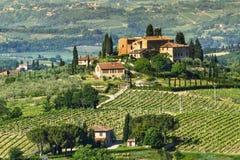Ландшафт Тосканы сельский Стоковые Изображения RF