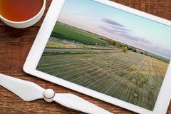 Сельский ландшафт Небраски в виде с воздуха стоковая фотография