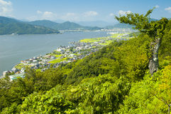 Сельский ландшафт около Amanohashidate Стоковые Фотографии RF