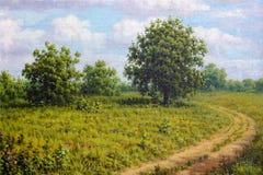 Сельский ландшафт дороги Стоковые Изображения