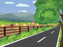 Сельский ландшафт Стоковые Изображения RF