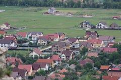 Сельский вид с воздуха Стоковая Фотография