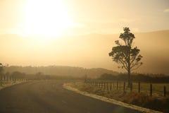 сельский восход солнца Стоковая Фотография