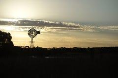 сельский заход солнца Стоковые Фотографии RF