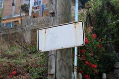 Сельский знак улицы без данных Стоковые Фотографии RF