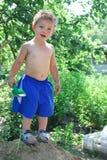 Сельский мальчик Стоковое фото RF