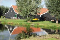 Сельский дом на Zaanse Schans Голландии Стоковое Изображение RF