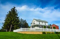 Сельский дом - поле места кино мечт - Dyersville, Айова Стоковая Фотография RF