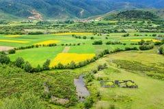 Сельский пейзаж, Шангри-Ла Стоковое фото RF