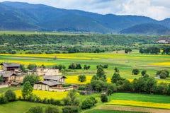 Сельский пейзаж, Шангри-Ла Стоковое Фото