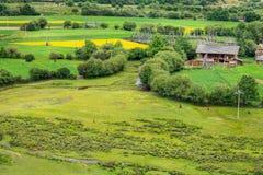 Сельский пейзаж, Шангри-Ла Стоковые Фото