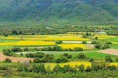 Сельский пейзаж, Шангри-Ла Стоковые Изображения