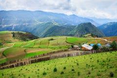 Сельский пейзаж, Шангри-Ла Стоковое Изображение RF