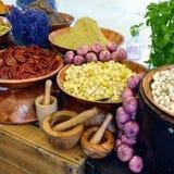 Сельский рынок овощей, Провансаль стоковая фотография rf