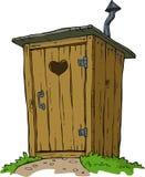 Сельский туалет иллюстрация штока