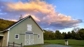 Сельское небо Вермонта стоковое фото