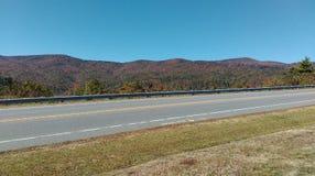 Сельское падение Северной Каролины шоссе стоковое фото