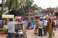 Сельское Rath Yatra Индийское празднество Стоковое Изображение
