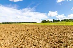 Сельскохозяйственне угодье в осени Стоковые Фотографии RF