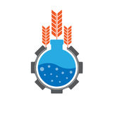Сельскохозяйственное исследование логотипа Иллюстрация штока