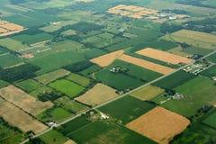 Сельскохозяйственное угодье, Онтарио, Канада Стоковые Изображения RF