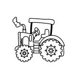 Сельско-хозяйственная техника трактора бесплатная иллюстрация