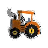 Сельско-хозяйственная техника трактора иллюстрация вектора