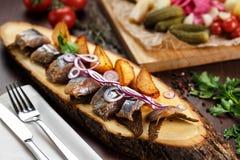 Сельди с potatoe Стоковые Фотографии RF