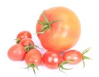 Сжатые томаты heirloom вишни стоковая фотография rf