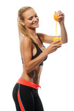 Сжимать красивой молодой белокурой женщины модельный стоковые изображения