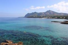 Сжимать среднеземноморской вид на море Стоковое Изображение
