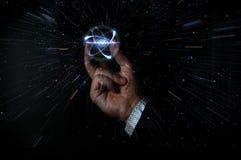 Сжимать частицу атома Стоковое Фото