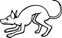 Сжимаясь собака бесплатная иллюстрация