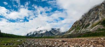 Сибирская живая природа, ряд Kodar Каменное река Syulban стоковые изображения