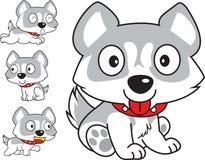 Сибирский шарж собаки иллюстрация вектора