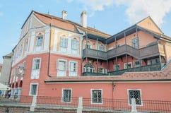 Сибиу, Румыния дом Люксембург (Каса Люксембург) Сибиу, Romnia дом Люксембург (Каса Люксембург) стоковые изображения rf