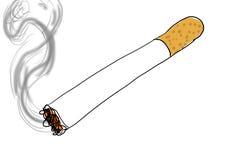 Сигара освещенная на белой предпосылке, иллюстрация вектора