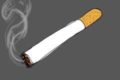 Сигара освещенная на серой предпосылке, бесплатная иллюстрация