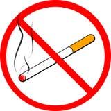 сигарета отсутствие курить знака Стоковая Фотография RF