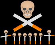 сигареты кладбища иллюстрация вектора