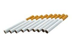 сигареты предпосылки белые Стоковые Фотографии RF