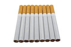 сигареты предпосылки белые Стоковые Изображения