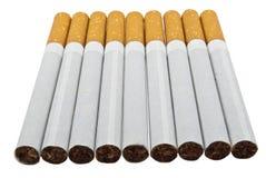 сигареты предпосылки белые Стоковое фото RF