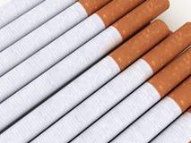 сигареты предпосылки изолировали белизну Стоковое фото RF