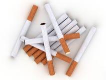 сигареты предпосылки изолировали белизну Стоковое Изображение