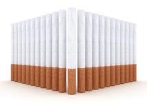 сигареты предпосылки изолировали белизну Стоковая Фотография RF
