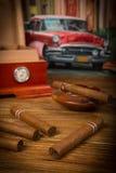 Сигары и хьюмидор Стоковая Фотография RF