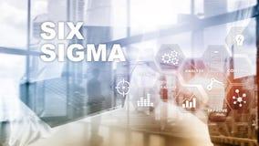 6 сигма, производство, проверка качества и производственных процессов улучшая концепцию Дело, интернет и tehcnology стоковая фотография