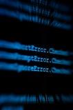 сигналить монитора ошибки электронно-вычислительной машины стоковое фото rf