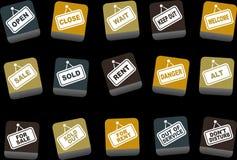сигналы иконы установленные бесплатная иллюстрация